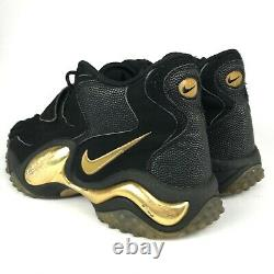 Nike Air Zoom Mens Black Gold Turf Jet 97 554989-005 Sneakers Shoes Size US 12