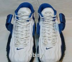 Nike Air Zoom Turf Jet White/Blue 97' Barry Sanders (Shoes Size 9) NO BOX
