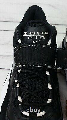 Nike Air Zoom Turf Training Black Sneakers Shoes Barry Sanders 315099-011 Sz 12