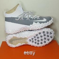 Nike Alpha Huarache 6 Elite Turf LAX Lacrosse Shoes 923426-102 Men Size 10.5 NIB