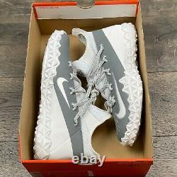 Nike Alpha Huarache 6 Elite Turf Lacrosse Mens Shoes Sz 10 923426-102 No lid