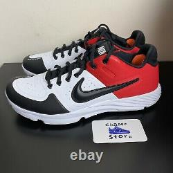 Nike Alpha Huarache Elite 2 Baseball Turf Shoes Black Toe AJ6877-106 Mens 10.5