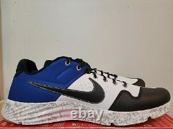 Nike Alpha Huarache Elite 2 Baseball Turf Shoes Men's Sz 14 Camo Blue AV2472-401