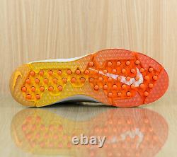 Nike Alpha Huarache Elite 2 Baseball Turf Shoes White CI2221 102 Men's size 9