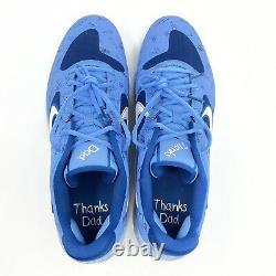 Nike Alpha Huarache Elite 2 Fathers Day Baseball Turf Shoes Blue Mens Size 12.5