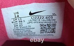 Nike Alpha Huarache Elite 2 Mothers Day Baseball Turf Shoes CI2222-603 Size 14