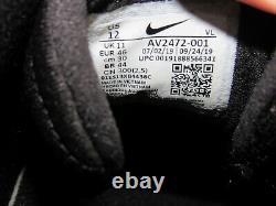 Nike Alpha Huarache Elite 2 Turf Baseball Shoes Black AV2472-001 Oreo Size 12