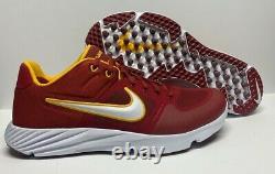 Nike Alpha Huarache Elite 2 USC Trojans Turf Shoes CU0149-601