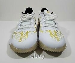 Nike Alpha Huarache Elite 3 Turf Premiun Mens Baseball Shoes White Size 11