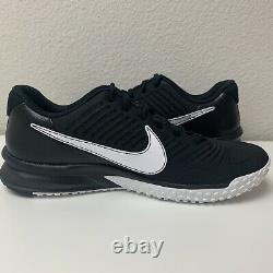 Nike Alpha Huarache Varsity 3 Turf Mens Shoes Size 9 Black CK6208-003 NEW
