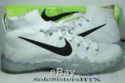 Nike Alpha Sensory Turf Football Shoes White Black Mens SZ 11 DS NEW 854312-101