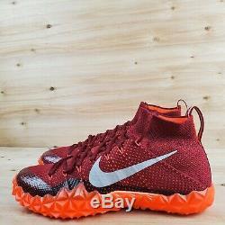 Nike Alpha Sensory Turf Lax/football Shoes 854312-806 Crimson/red Men's Sz. 12