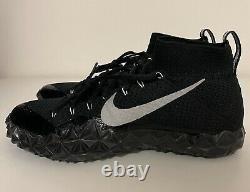 Nike Alpha Sensory Turf Training Shoes Mens Sz 10.5 Black Silver 854312-001 NEW