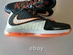 Nike Football Men's Field General 2 Trainer Turf Shoes White Black Orange sz 11