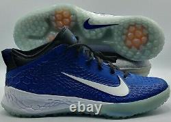 Nike Force Zoom Mike Trout 5 Baseball Turf Shoes Blue Men Size 12 AH3374-401 NEW