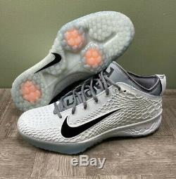 Nike Force Zoom Trout 5 Baseball Turf Shoe Men's Size 13 Gray Black AH3374-004