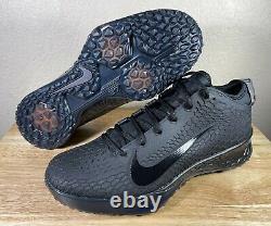 Nike Force Zoom Trout 5 Baseball Turf Shoes SZ 11.5 Triple Black New AH3374-002