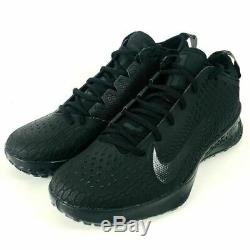 Nike Force Zoom Trout 5 Baseball Turf Shoes Triple Black AH3374-002 Mens Size 12
