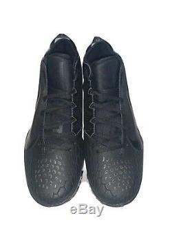 Nike Force Zoom Trout 5 Baseball Turf Shoes Triple Black AH3374-002 Mens Size 14