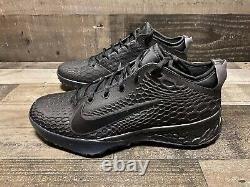 Nike Force Zoom Trout 5 Baseball Turf Shoes Triple Black AH3374-002 Mens Size 9