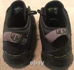 Nike Force Zoom Trout 5 Baseball Turf Shoes Triple Black AH3374-002 Mens Sz 10