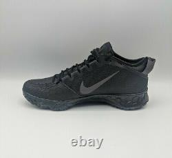 Nike Force Zoom Trout 5 Baseball Turf Shoes Triple Black AH3374-002 Mens Sz 9