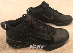 Nike Force Zoom Trout 5 Baseball Turf Shoes Triple Black Mens Size 8 AH3374-002