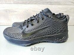 Nike Force Zoom Trout 5 Men's Baseball Turf Triple Black Sz 9 AH3374-002 (A3)