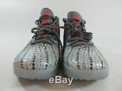 Nike Force Zoom Trout 5 Men's Turf Shoes Silver Red Grey Size 12 AH3383-001