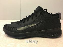 Nike Force Zoom Trout 5 Mens Baseball Turf Shoes Triple Black AH3374-002 SZ 9.5