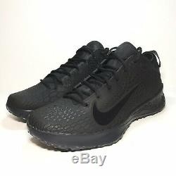 Nike Force Zoom Trout 5 Mens Turf Shoes Black/Grey Size 12 New AH3374-002