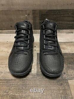 Nike Force Zoom Trout 5 Turf Baseball Shoes Black AH3374-002 Men's size 10