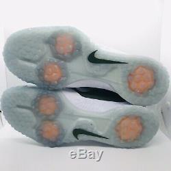 Nike Force Zoom Trout 5 Turf Shoes Baseball White/Green Mens Size13 BQ5556-301