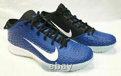 Nike Force Zoom Trout 5 Turf Shoes Mens Blue White Black AH3374-401 Size 9.5