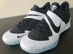 Nike Force Zoom Trout 6 Baseball Turf Shoes Black White Oreo AT3463-001 Sz 10
