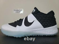 Nike Force Zoom Trout 6 Baseball Turf Shoes Black White Oreo AT3463-001 Sz 11