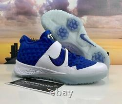 Nike Force Zoom Trout 6 Turf AT3463-400 Baseball Shoes Blue/White Mens Size 9