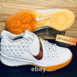 Nike Force Zoom Trout 6 Turf Baseball Shoes Size 11 White Magma Orange RARE NEW