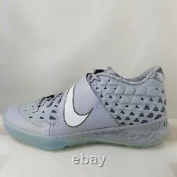 Nike Force Zoom Trout 6 Turf Gray Baseball Shoes (Men's Size 10.5) AT3463-002