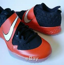Nike Force Zoom Trout 6 Turf Men's Baseball Shoes Black Orange CQ0998-001 Sz 11