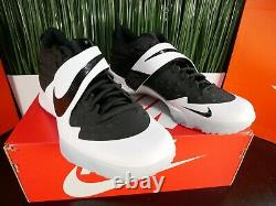 Nike Force Zoom Trout 6 Turf Mens Shoes Black White AT3463-001 Size 11