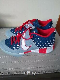 Nike Force Zoom Trout 6 Turf PRM USA Flag Size 10.5 Baseball Shoes AT3881-400