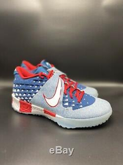 Nike Force Zoom Trout 6 Turf PRM USA Flag Size 10 Baseball Shoes AT3881-400