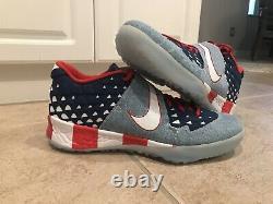 Nike Force Zoom Trout 6 Turf Premium Denim USA Sz 14 At3881 Baseball Shoes