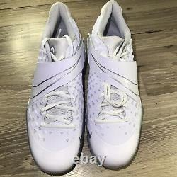 Nike Force Zoom Trout 6 Turf Shoes Baseball White AT3463-100 Men's Size 10