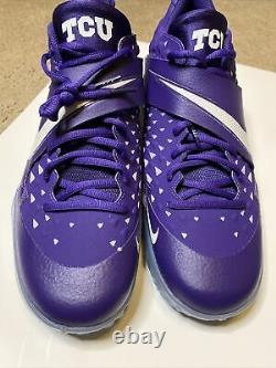 Nike Force Zoom Trout 6 Turf TCU Purple Baseball Shoes Size 12 CU0150-500