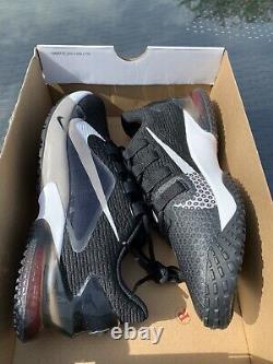 Nike Force Zoom Trout 7 Turf Black White Baseball Shoe CQ7225-009 Mens Size 8
