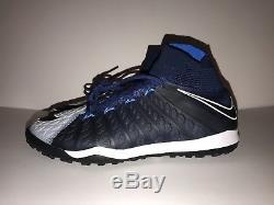 Nike HypervenomX Proximo II DF TF Turf Soccer Shoe Size 9 852576 404 Navy Blue