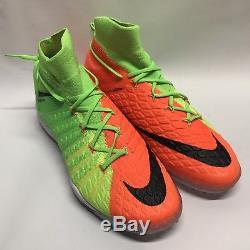 Nike HypervenomX Proximo II DF TF Turf Soccer Size 10 Electric Green 852576-308