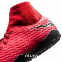Nike Hypervenom Phelon III TF Turf 2017 DF Nike Skin Soccer Shoes Fire Red